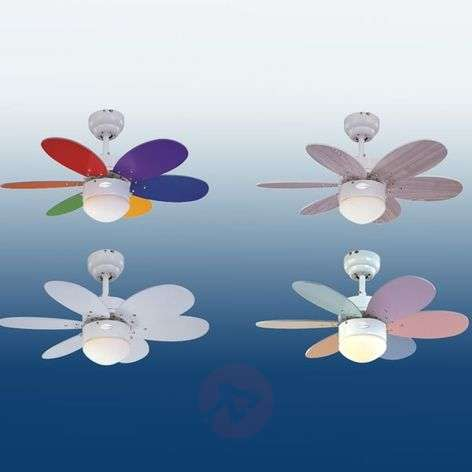 Turbo II ceiling fan with two sets of blades-9602030-32