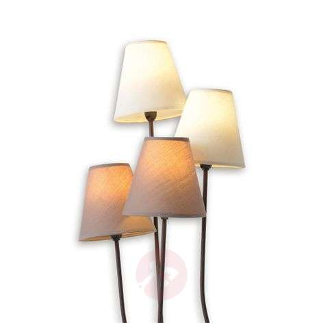 Twiddle - floor lamp with four fabric lampshades