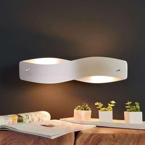 Twisted LED wall light Lian - matt aluminium