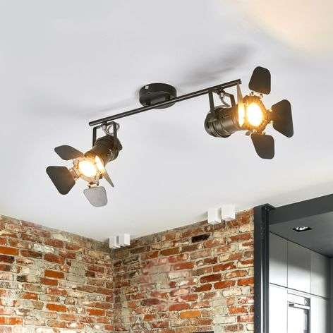 Two-bulb ceiling lamp Solena, spotlight style