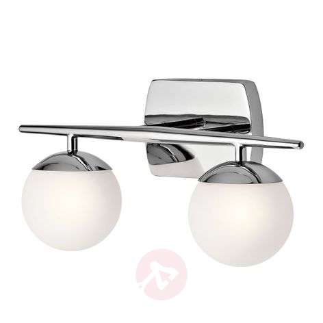 Two-bulb LED bathroom wall light Jasper, elegant