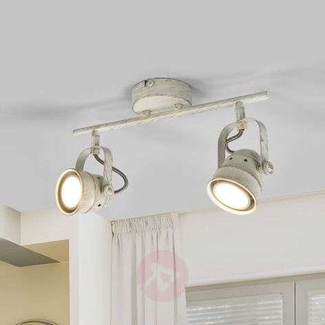 Two-bulb LED ceiling lamp Leonor in white