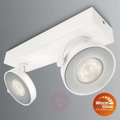 Two-bulb LED spotlight Clockwork, WarmGlow effect
