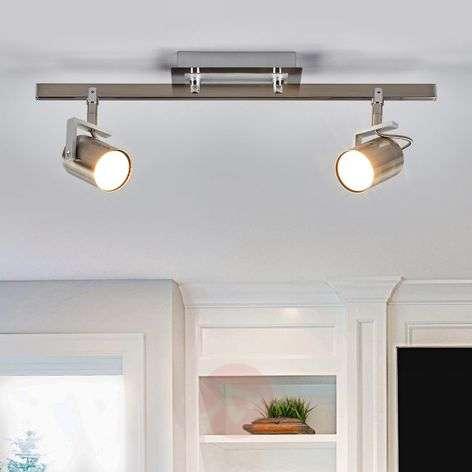 Two-bulb spotlight Morea in nickel