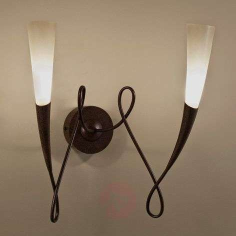 Two-bulb Virgins wall light