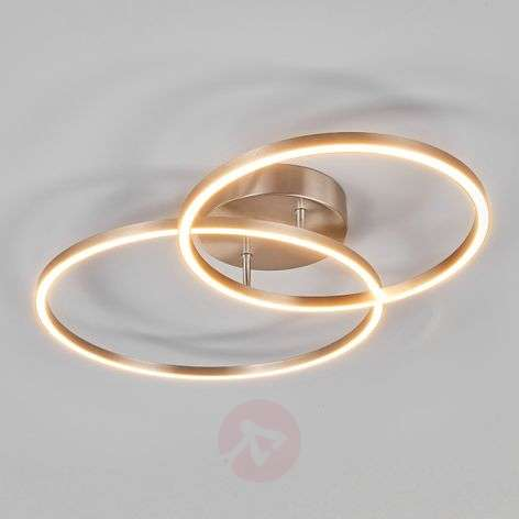 Two overlapping rings - the Elmo LED ceiling lamp