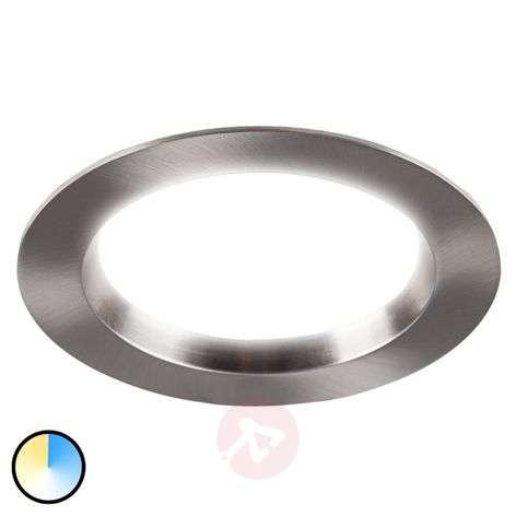Tyrien - matt nickel LED recessed light round