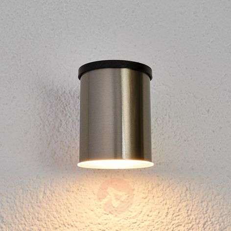 Tyson LED solar outdoor wall light, round, clear