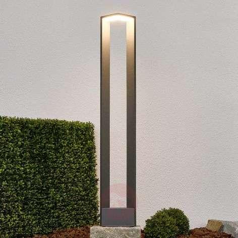 Ultramodern LED path light Jeny in dark grey