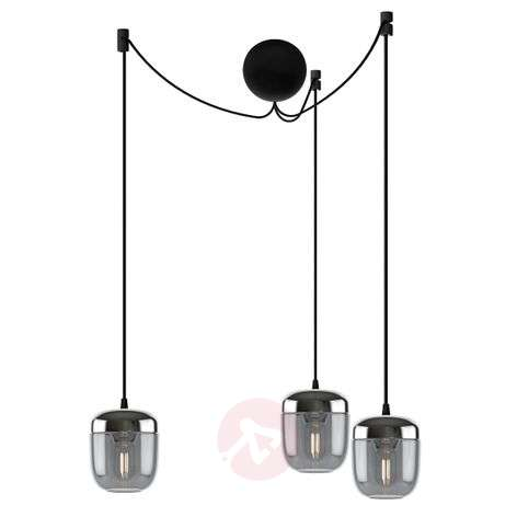 UMAGE Acorn hanging lamp 3-bulb smoky grey steel