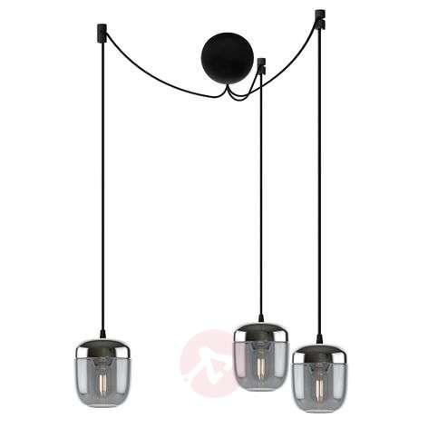 UMAGE Acorn hanging lamp 3-bulb smoky grey steel