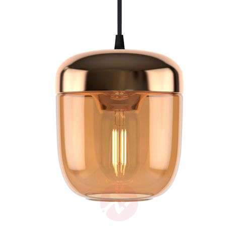 UMAGE Acorn hanging lamp one-bulb amber brass