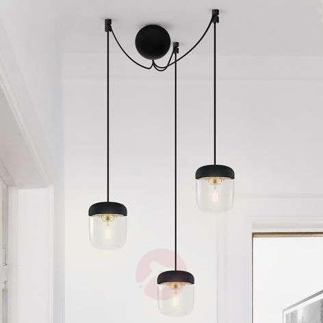 UMAGE Acorn hanging lamp three-bulb black/brass