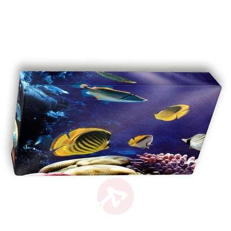 Underwater motive textile ceiling light Flo 60 cm
