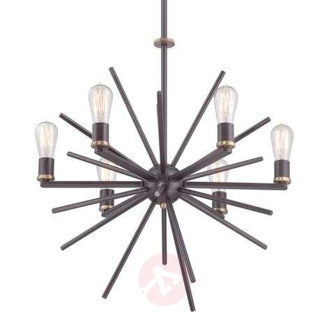 Unique 6-bulb hanging light Carnegie