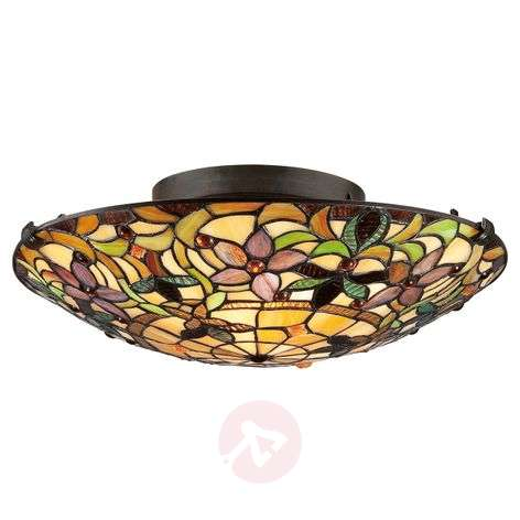 Unusual ceiling lamp Kami in a Tiffany style