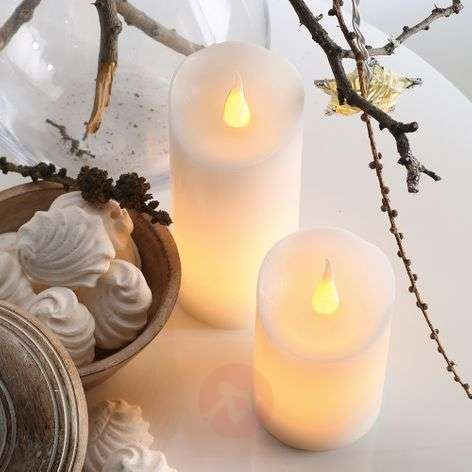 Up-to-date LED wax candle, 5 cm x 9.5 cm, white