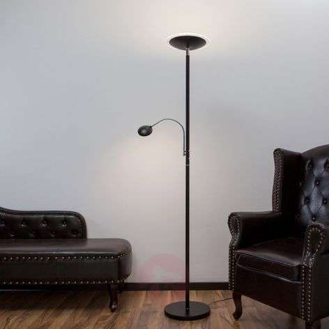 Uplight Malea with LED + reading arm, black