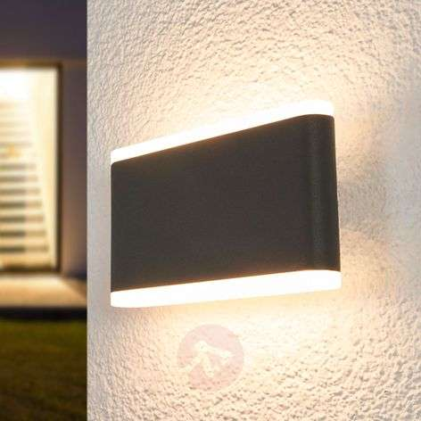 Vaiana LED outdoor wall lamp, dark grey