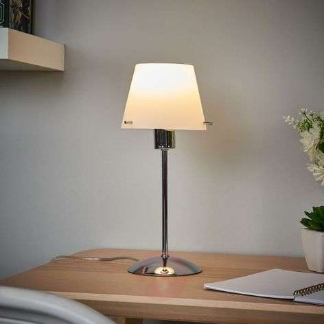 Valentine - LED table lamp with glass lampshade