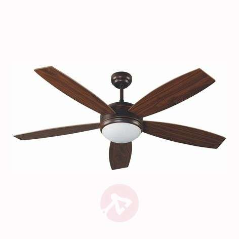 VANU Large Ceiling Fan with Remote Control, Brown