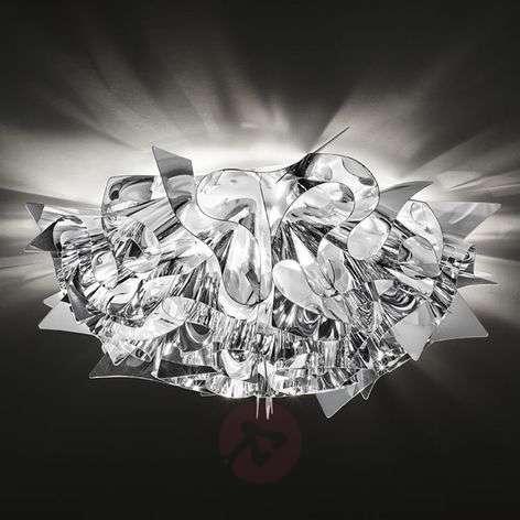 Veli designer ceiling light in silver, 53 cm