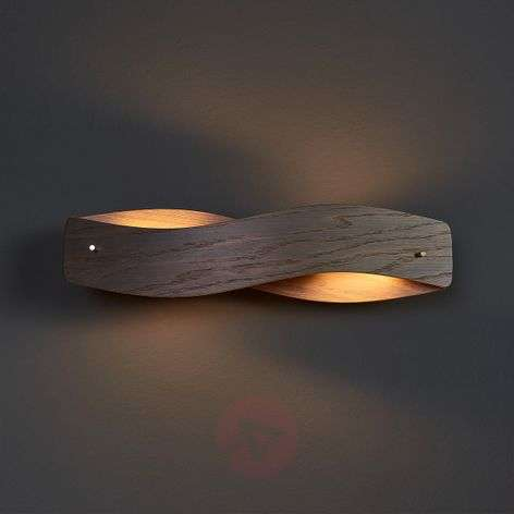 Veneered Lian LED wall light - colonial oak