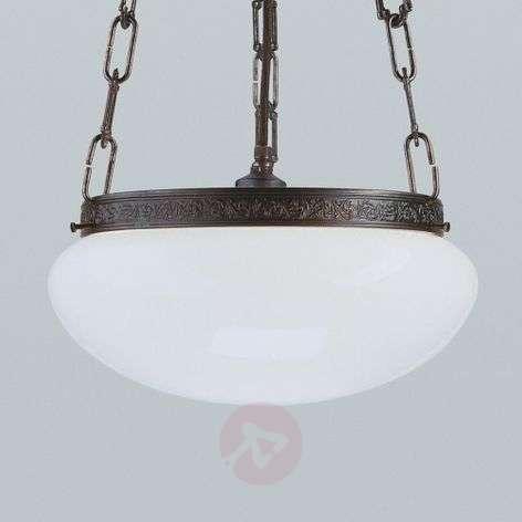 Verne antique-effect hanging light