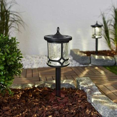 Versatile LED solar light Oskar in set of 2