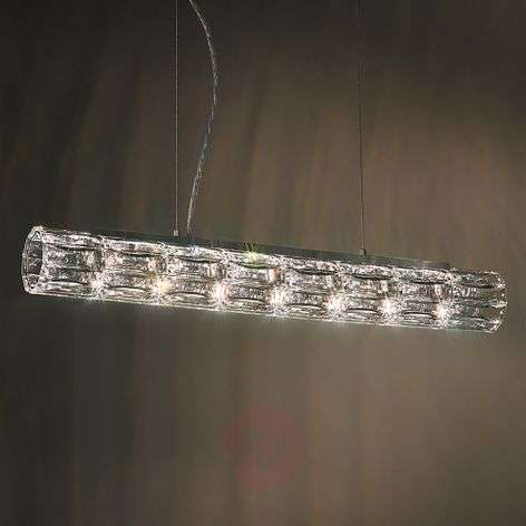 Verve hanging light with crystal diffuser, 61cm