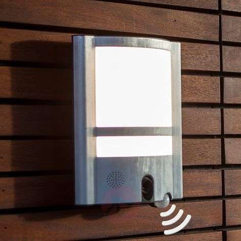 Vesta Cam outdoor wall light with sensor & camera