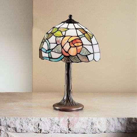 Vienna Tiffany style table lamp, bronze base