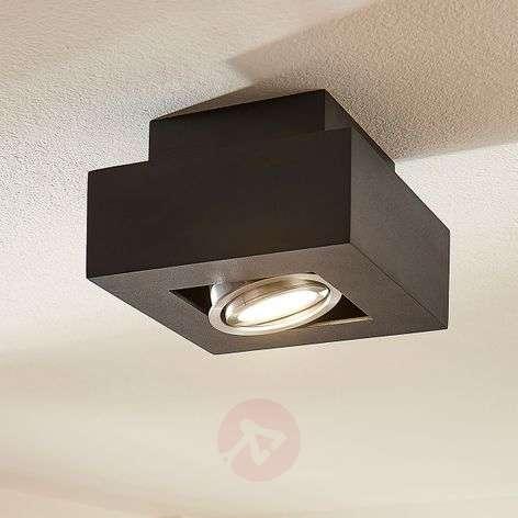 Vince LED ceiling light, 14 x 14cm in black