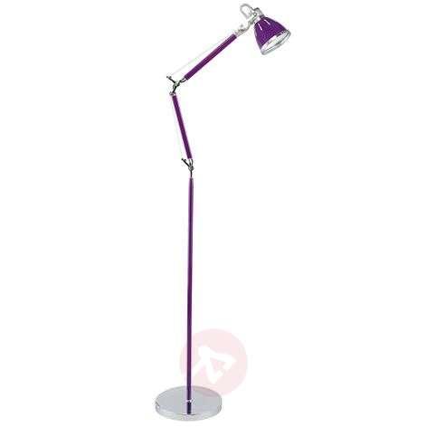 Violet adjustable floor lamp Jerona