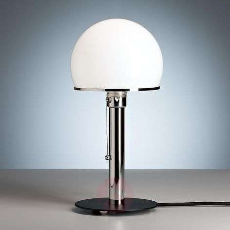 Wagenfeld table lamp with a black painted base-9030002-31