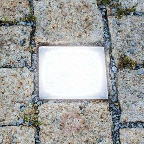 Walk-on LED recessed floor light, paving stone