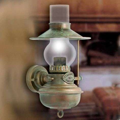 Wall light Guadalupa in oil lamp look