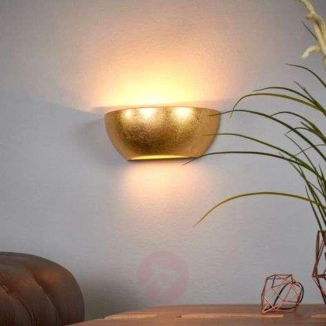 Wall light Kolja with a golden foil finish