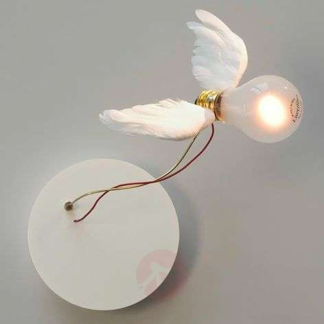 Wall light Lucellino NT with goose feather wings