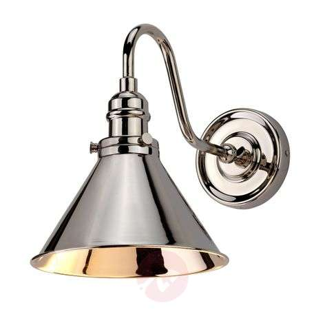 Wall light Provence in a polished nickel finish