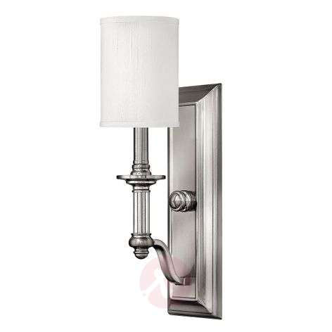 Wall light Sussex with white fabric lampshade
