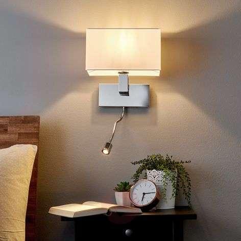 Wall light Tamara with fabric shade, LED flex arm-9976011-31