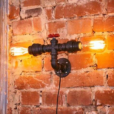 Wall light Tap in tube form, 2-bulb to the side