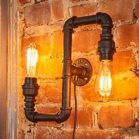 Wall light Tap in tube form, 2-bulb up & downlight