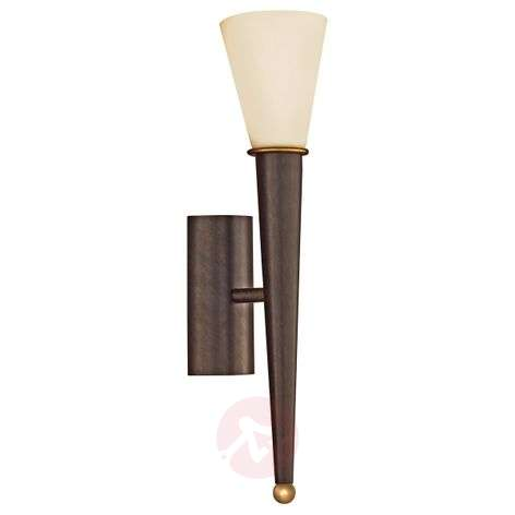 Wall torch Merna, 1-bulb, antique brown