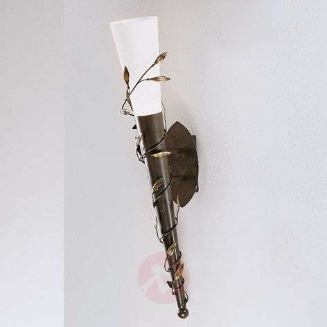 Wall torch Rose with a glass lampshade