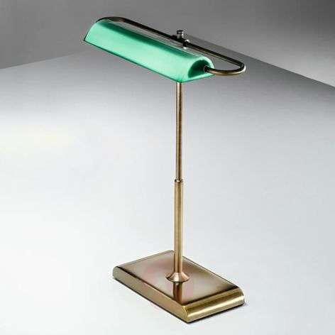 Wallstreet - LED table lamp with green shade