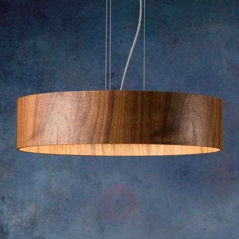 Walnut hanging light Lara Wood with LEDs