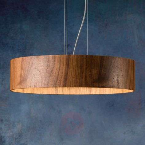 Walnut hanging light Lara Wood with LEDs-2600525-31