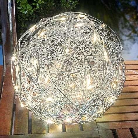 Warm white LED solar light Alu-Wireball